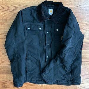 Carhartt black jacket work coat
